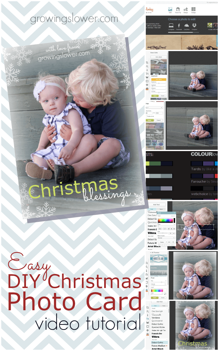 How to make your own Christmas photo cards free online with just basic computer skills, a couple of free programs, and no scrap booking! Save money on Christmas cards this year with this easy photo tutorial.