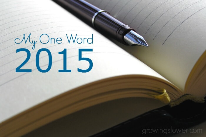 My One Word 2015