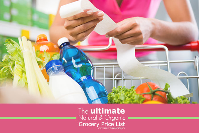 The Ultimate Natural and Organic Grocery Price List