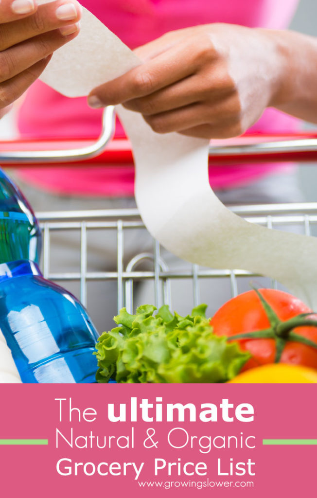 Compare prices and save money on groceries with The Ultimate Natural and Organic Grocery Price List. This makes it easy to find the best prices on your favorite products at Costco, Vitacost, Amazon, Azure Standard, Thrive Market, and more!