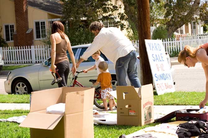 """""""Make the Kids Think They're Next!"""" Throw a yard sale, put stuff on craigslist or ebay, sell anything you can to earn extra cash to put toward your loans."""
