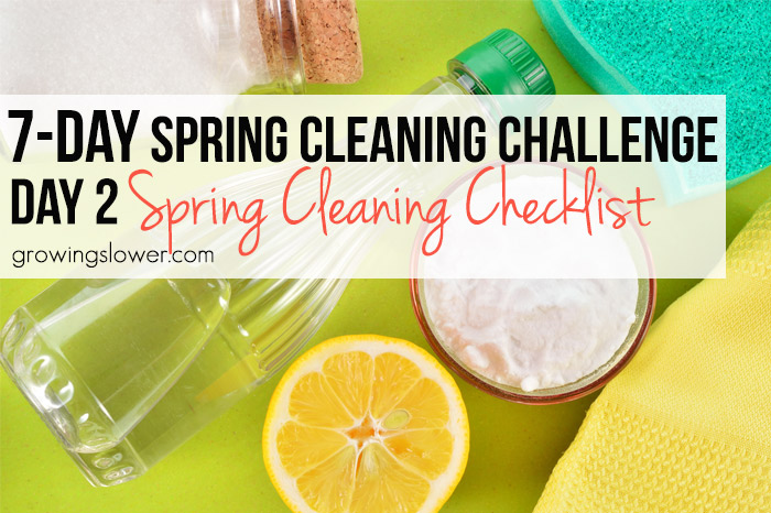 Spring Cleaning Challenge Day #2: Simple Spring Cleaning Checklist