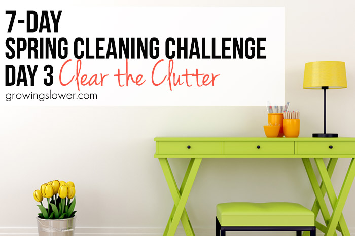 Spring Cleaning Challenge #3: Clear the Clutter