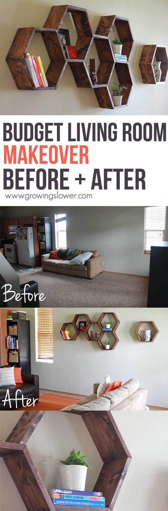 Budget Living Room Makeover Before And After How To