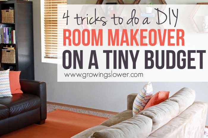 $79 Budget Living Room Makeover Before and After + How to Do Your Own