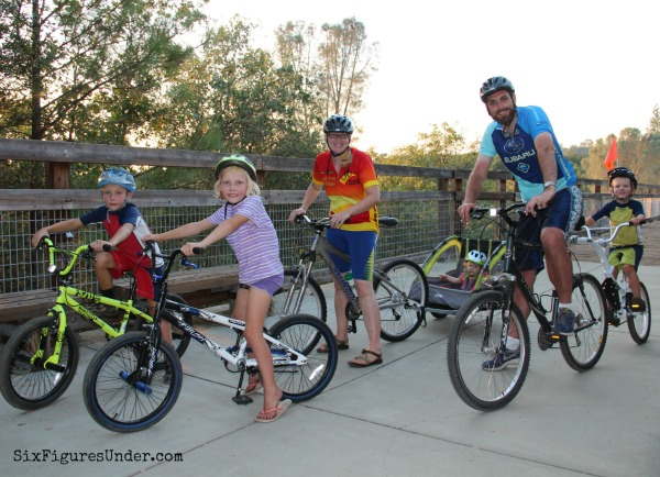 After paying off more than $144,000 in less than 3 years, Stephanie and her husband rewarded themselves with bikes for the whole family. Read their debt free story below.